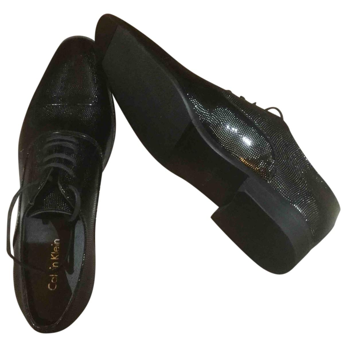 Calvin Klein \N Black Leather Lace ups for Men 42 EU
