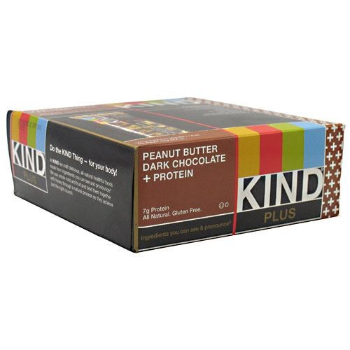 Kind Plus Peanut Butter Dark Chocolate 1.3 lbs(case of 12) by Kind Fruit & Nut Bars