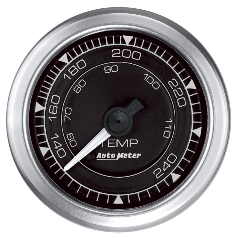 AutoMeter GAUGE; TEMP; 2 1/16in.; 240deg.F; MECH; CHRONO