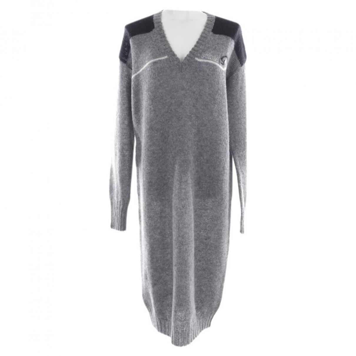 Prada \N Grey Wool dress for Women 36 FR