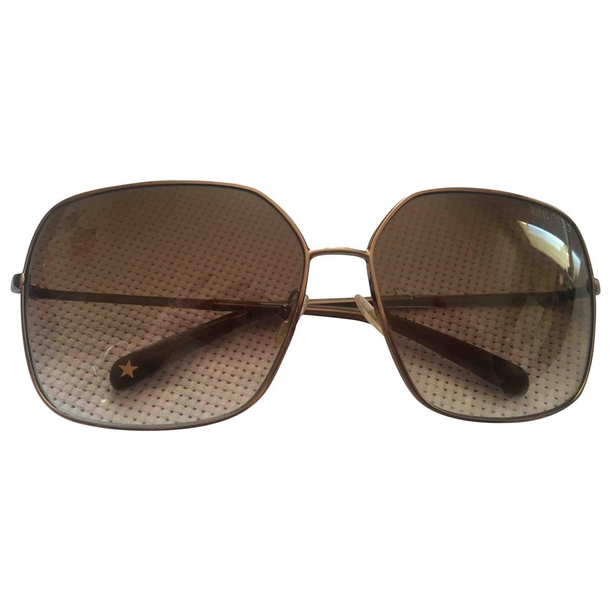 Jimmy Choo \N Brown Metal Sunglasses for Women \N