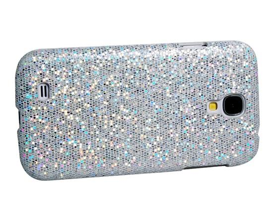 Sequined Skinning Plastic Case for Samsung Galaxy S4/ I9500 - White