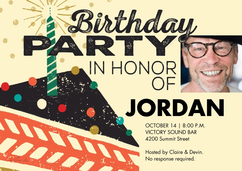 Birthday Party Invites 5x7 Cards, Premium Cardstock 120lb with Scalloped Corners, Card & Stationery -Birthday Party Cake