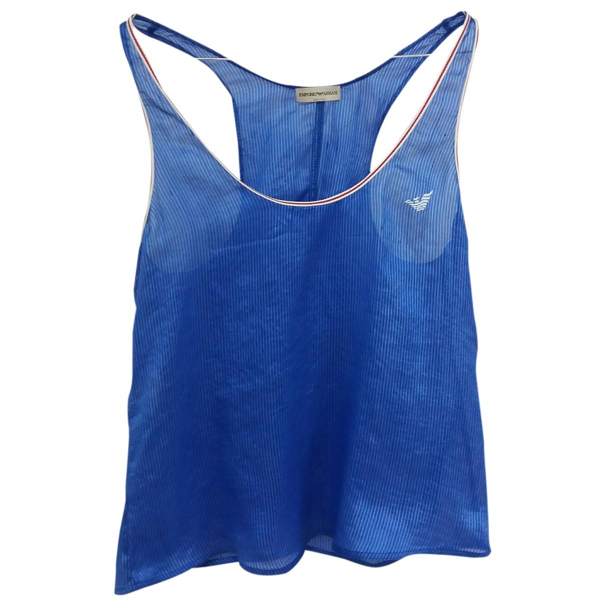 Emporio Armani \N Blue Silk  top for Women 40 IT