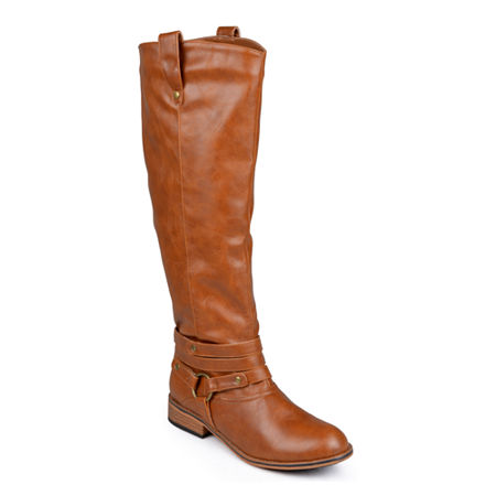 Journee Collection Womens Walla Extra Wide Calf Riding Boots, 9 Medium, Brown