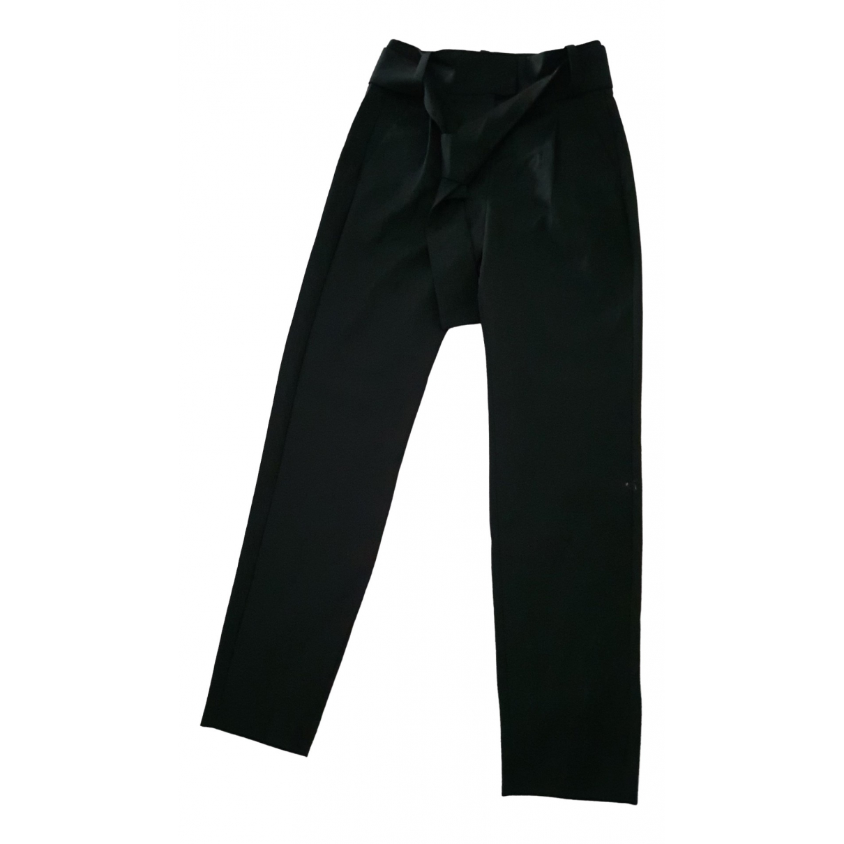 Maje \N Black Wool Trousers for Women 36 FR