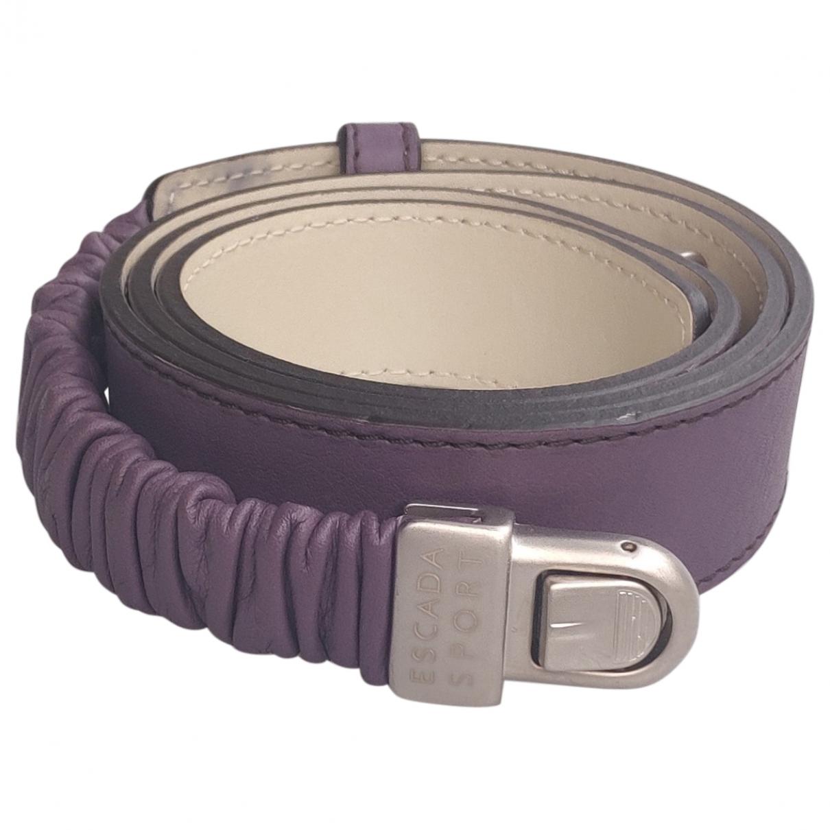 Escada \N Purple Leather belt for Women M International