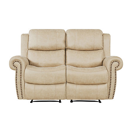 Roku 2 Seat Recliner Loveseat, One Size , Beige