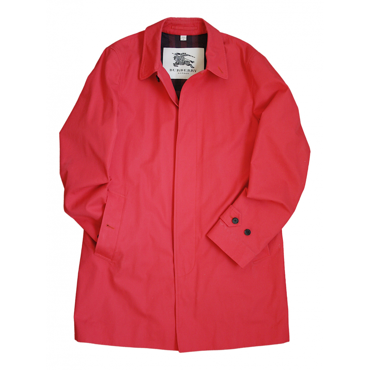 Burberry \N Red Cotton coat  for Men 48 IT