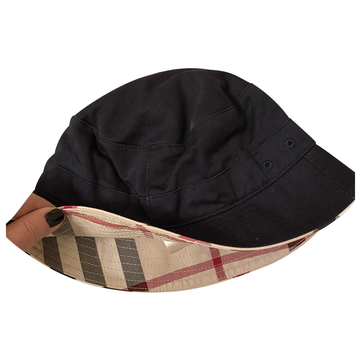 Burberry \N Black Cotton hat & Gloves for Kids \N