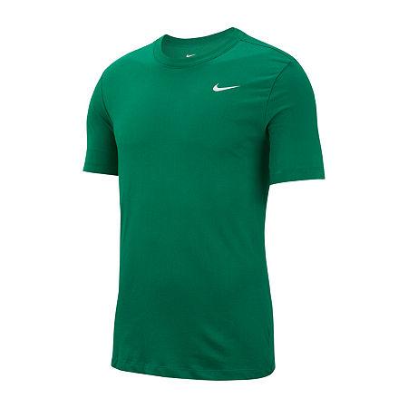 Nike Mens Crew Neck Short Sleeve Moisture Wicking T-Shirt, X-large , Green