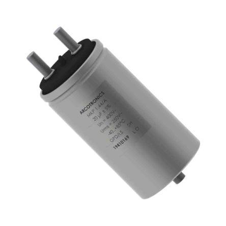KEMET 200μF Polypropylene Capacitor PP 250 V ac, 400 V dc ±5% Tolerance Screw Mount C44A Series