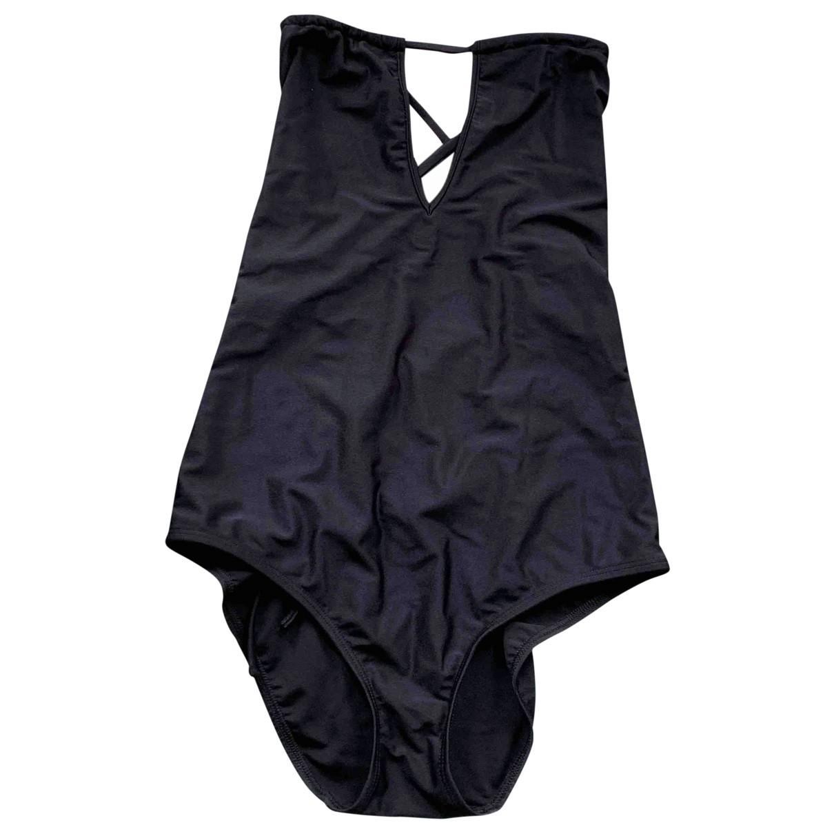 Yasmine Eslami \N Black Cotton Swimwear for Women \N