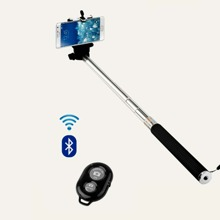 1pc Wireless Bluetooth Mobile Phone Selfie Stick With Remote Control