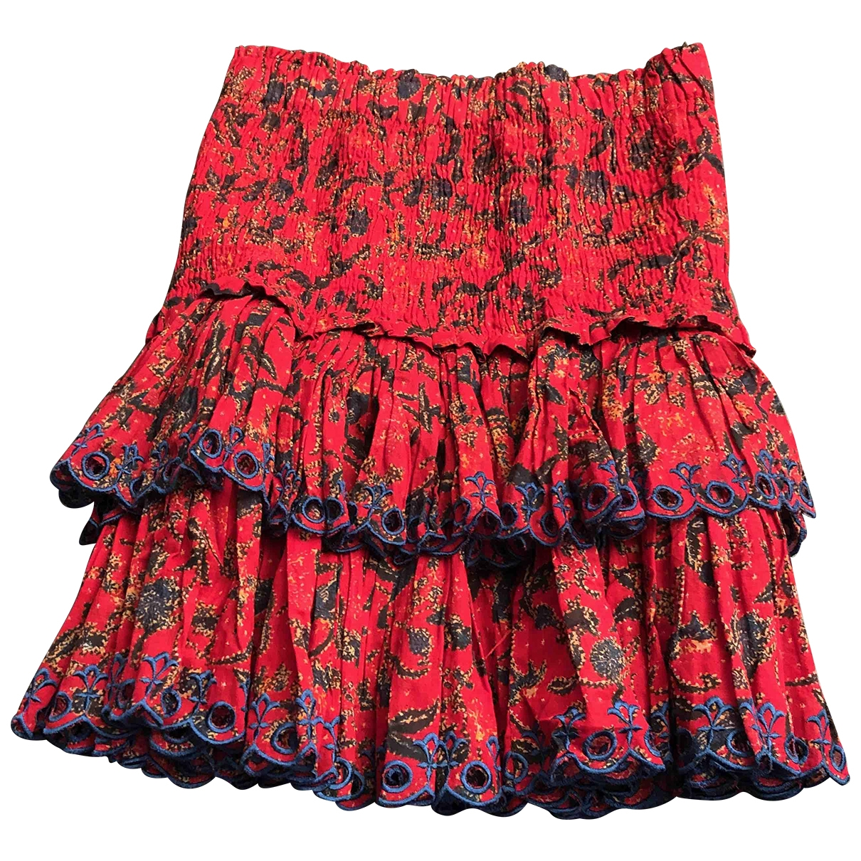 Isabel Marant Etoile \N Red Cotton skirt for Women 34 FR