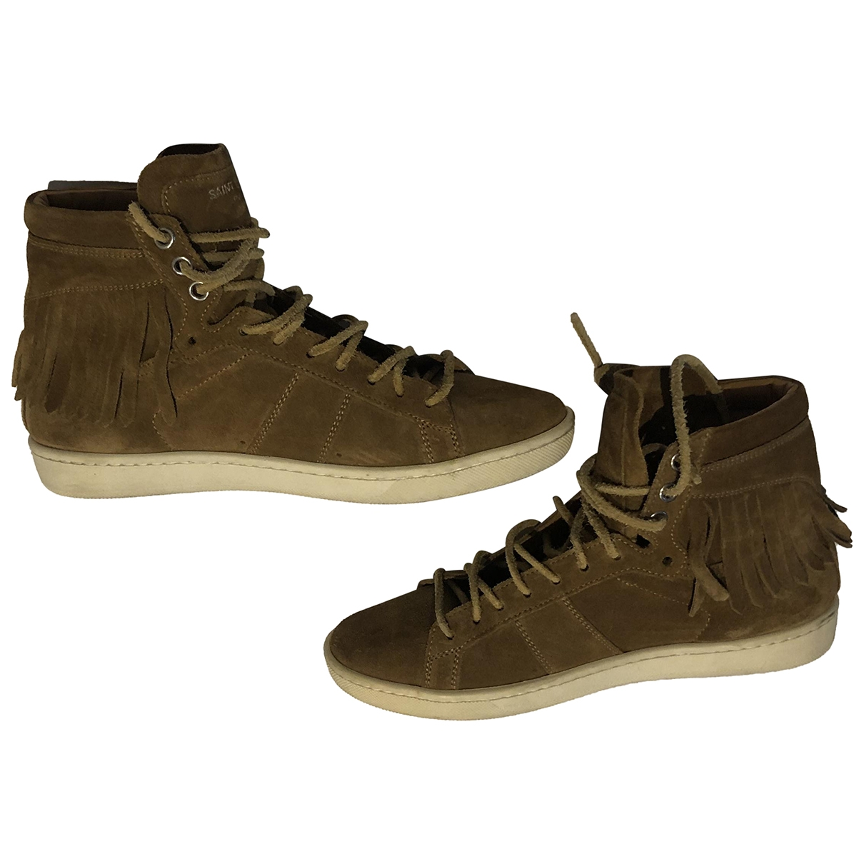 Saint Laurent \N Brown Suede Trainers for Women 3.5 UK