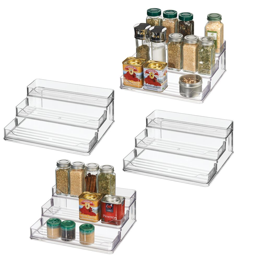 Plastic Spice Rack - Caddy Kitchen Food Storage Rack 9.2
