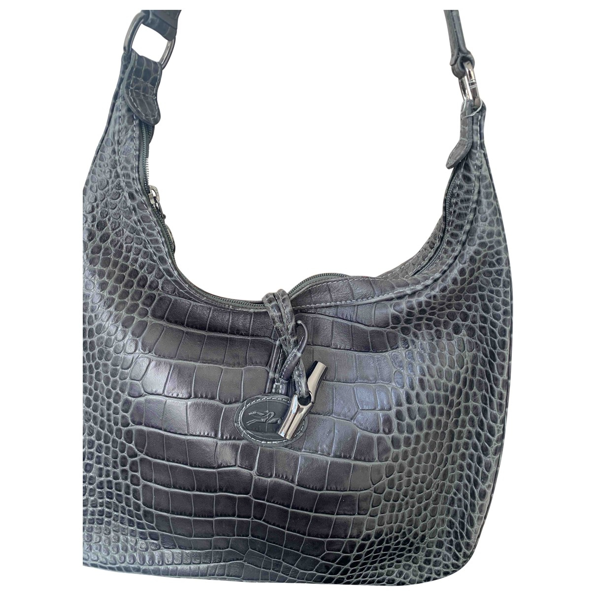 Longchamp \N Grey Leather handbag for Women \N