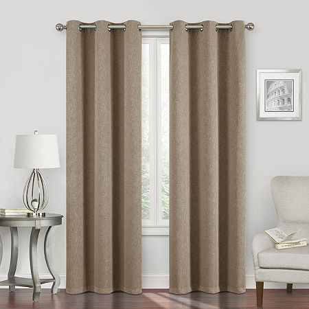 Regal Home Sterling Energy Saving Blackout Grommet-Top Single Curtain Panel, One Size , Brown