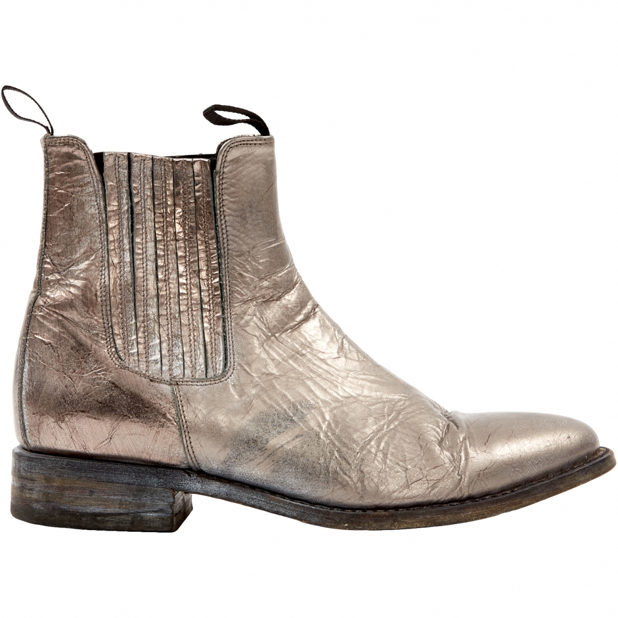 Non Signé / Unsigned \N Silver Leather Boots for Men 41 EU