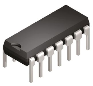 Texas Instruments CD74HCT125E, Quad-Channel Non-Inverting 3-State Buffer, 14-Pin PDIP
