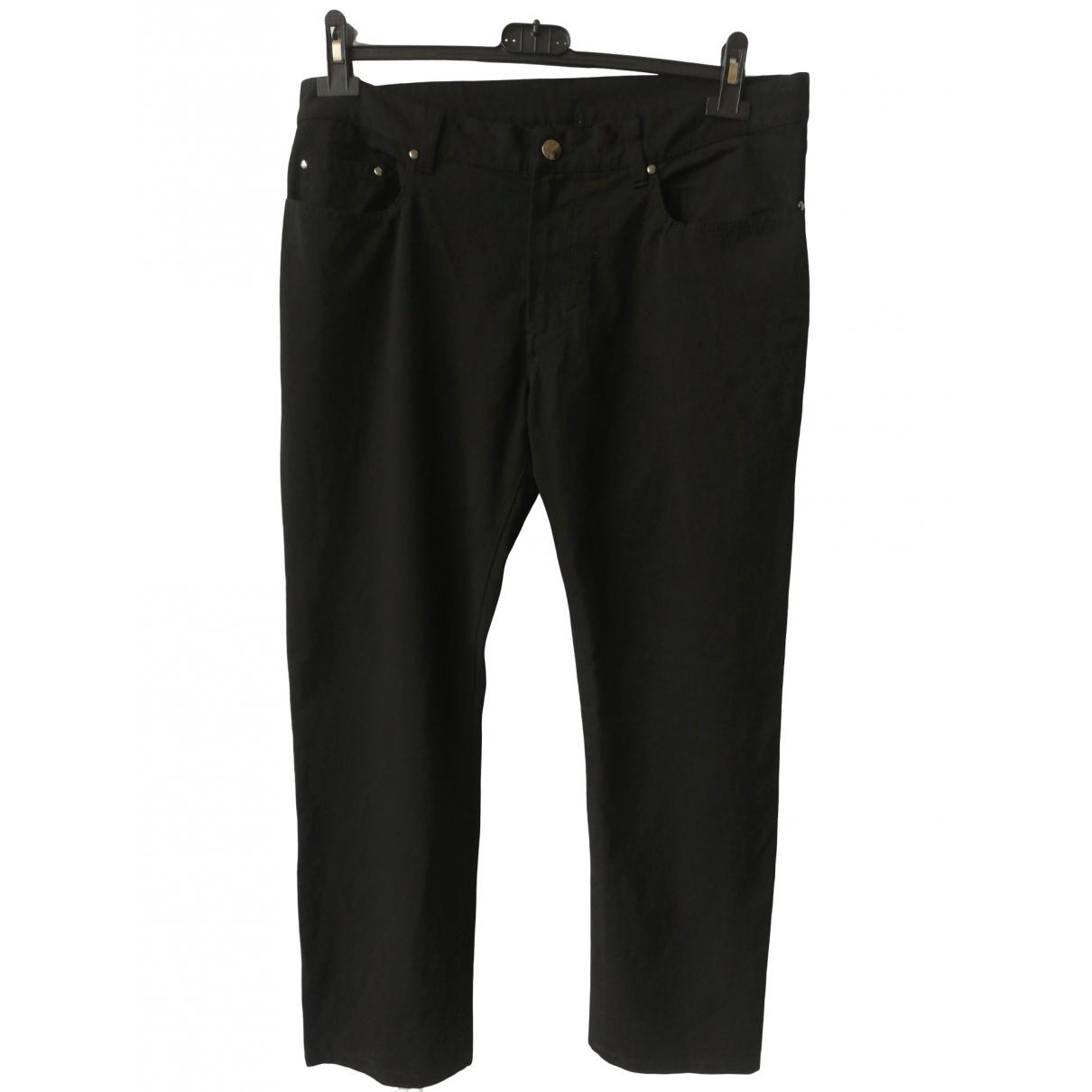 Versace \N Black Cotton Trousers for Men 36 UK - US