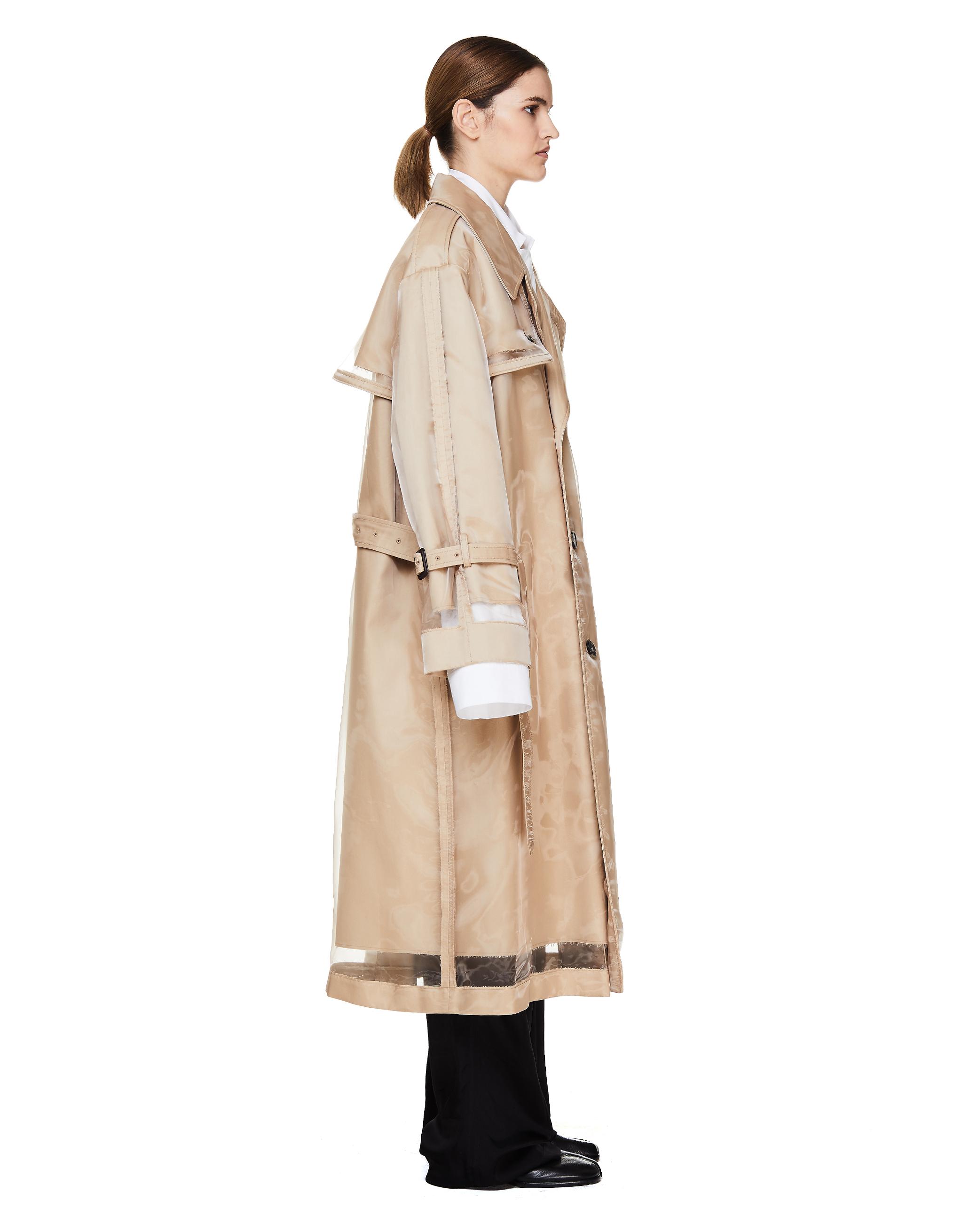 Maison Margiela Transparent Beige Trench Coat