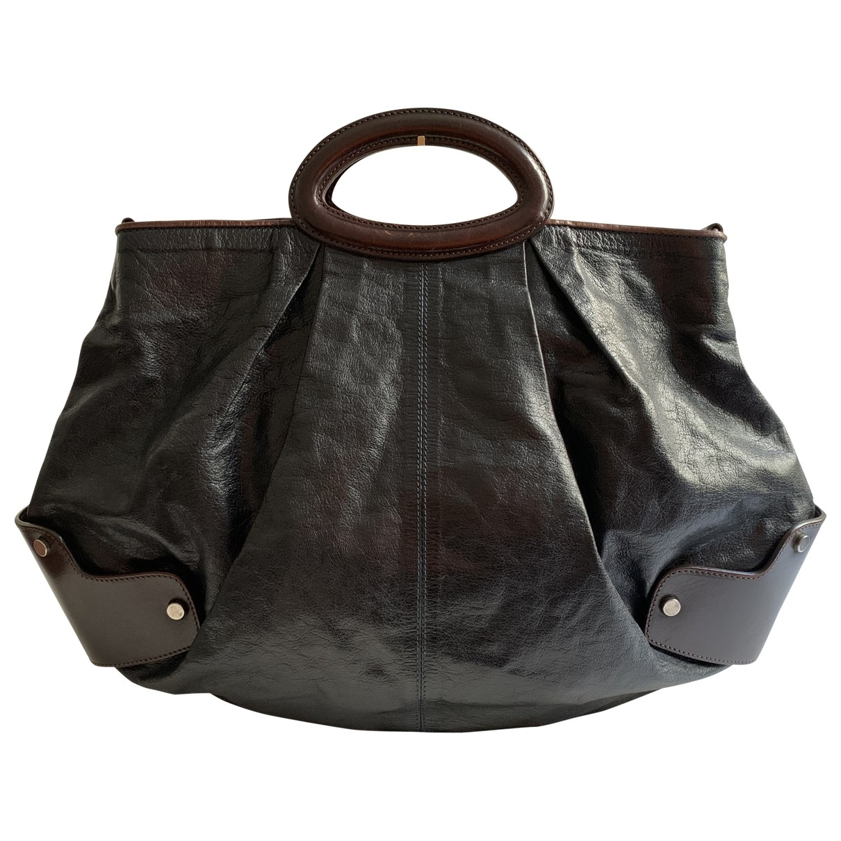 Marni \N Black Leather handbag for Women \N