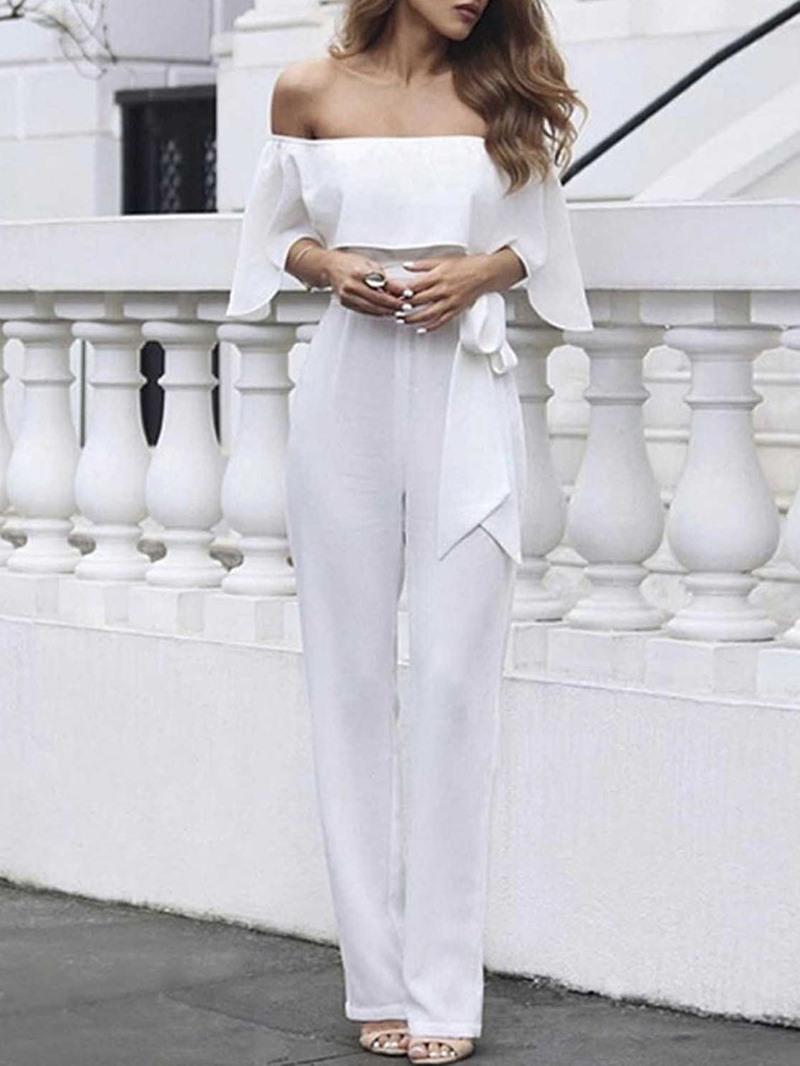 Ericdress Women's Sexy Plain Full Length Slim Jumpsuit