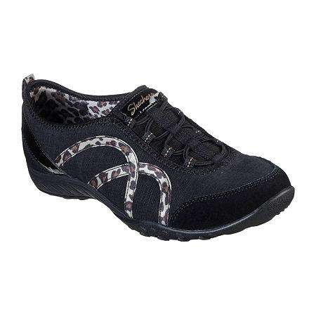 Skechers Womens Breathe Easy Missing Lynx Slip-On Shoe, 8 Medium, Black