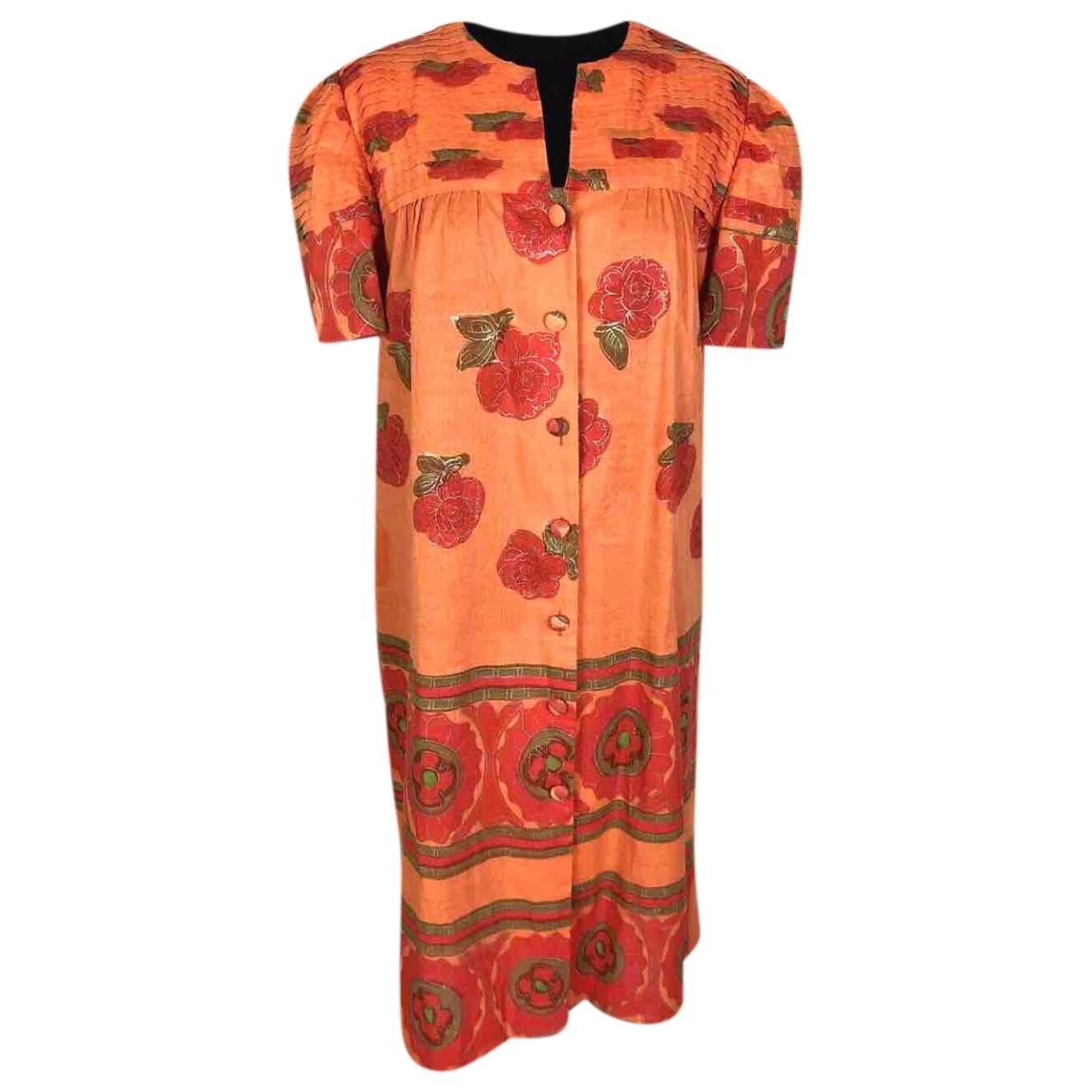 Non Signé / Unsigned \N Orange Cotton dress for Women 40 FR
