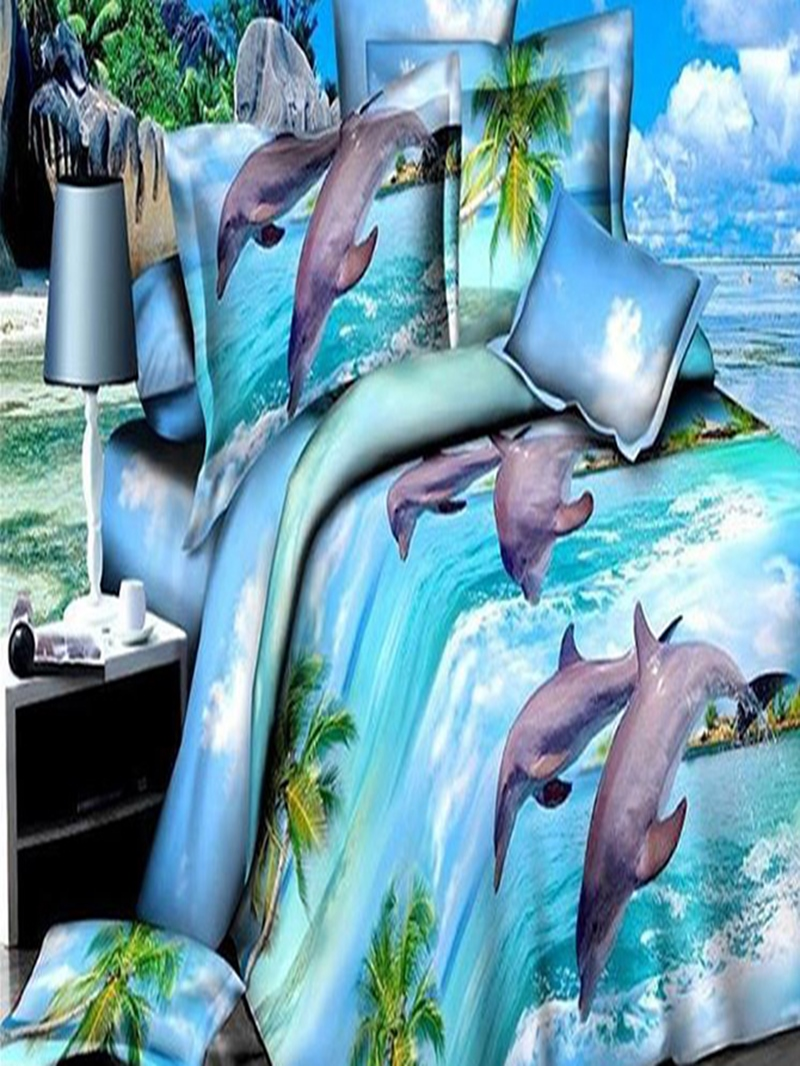 Ericdress Dolphin Playing Water Print Bedding Sets