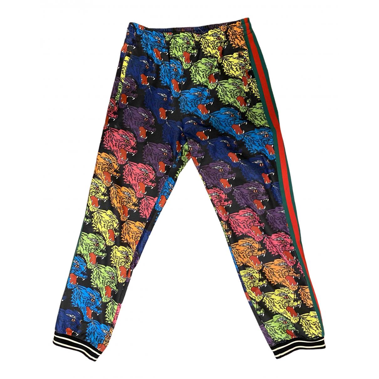 Gucci \N Multicolour Cotton Trousers for Men S International