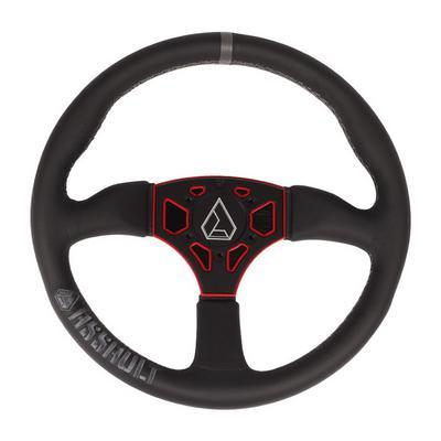 Assault Industries 350R Leather Steering Wheel (Black-Red) - 100005SW0303