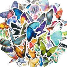 50pcs Butterfly Shaped Sticker