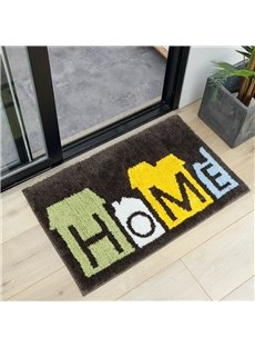 Water Absorption Polyester Simple Style Machine Wash Area Rug