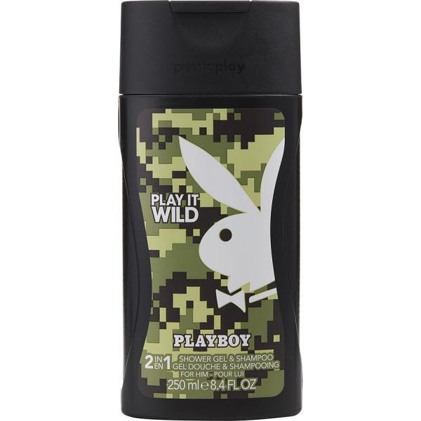 Playboy - Play It Wild : Hair & Body Shower Gel 8.5 Oz / 250 ml