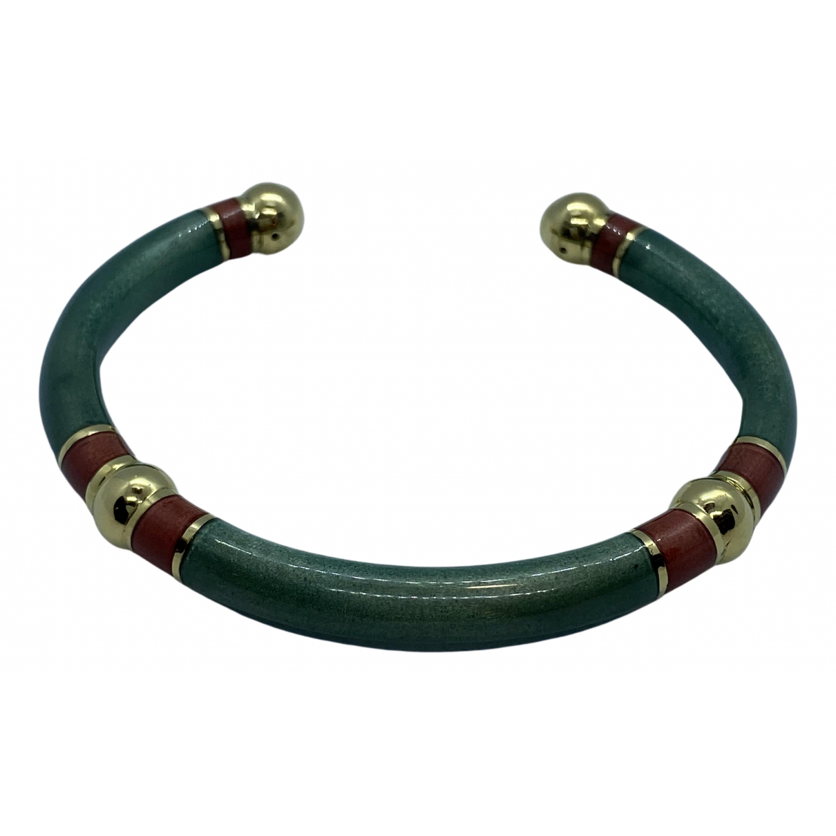 Non Signé / Unsigned Jonc Green Yellow gold bracelet for Women \N