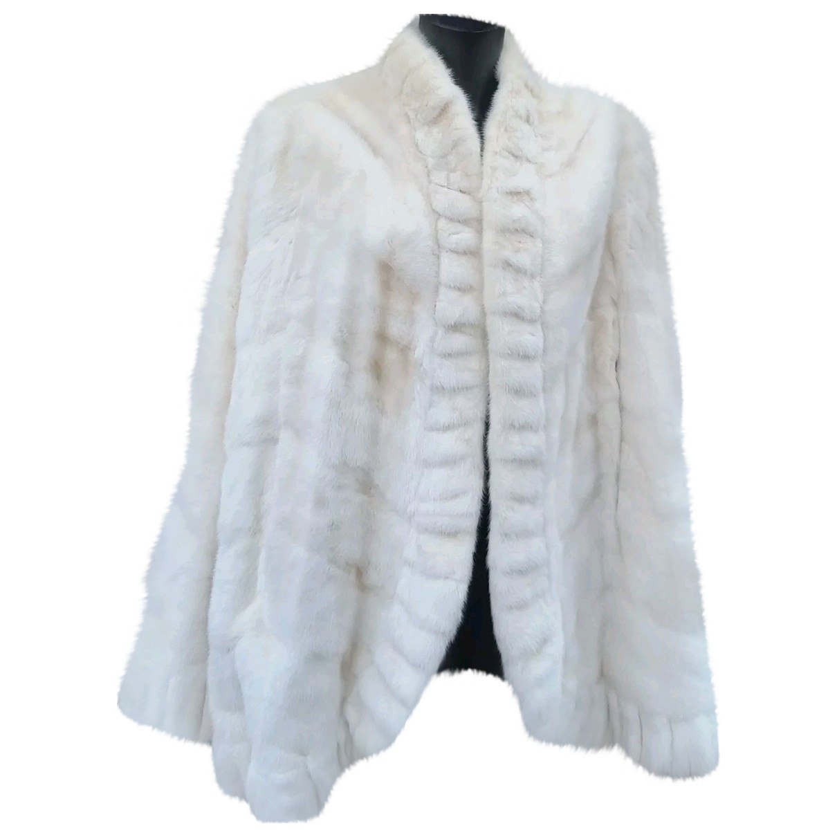 Non Signé / Unsigned \N White Mink coat for Women One Size FR