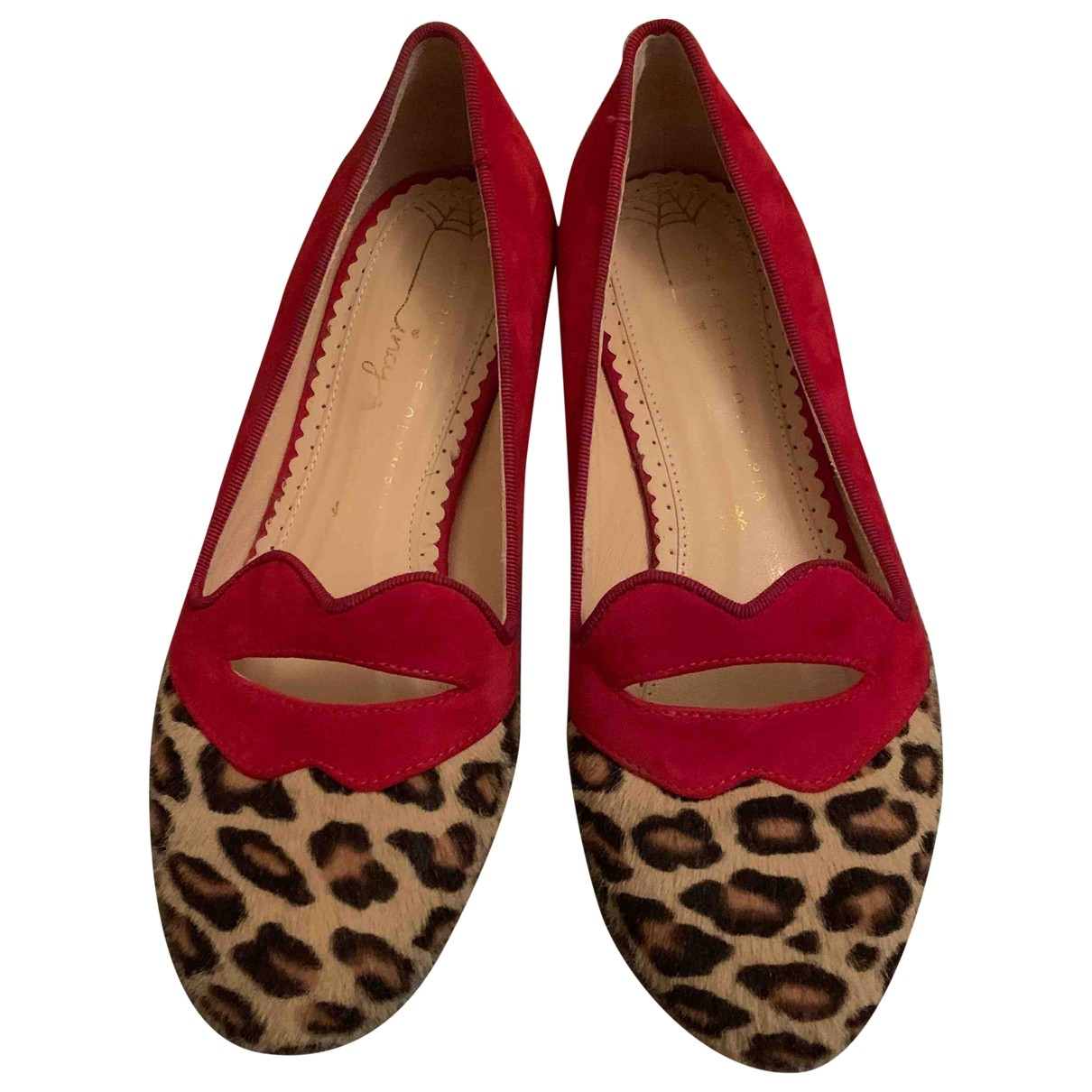 Charlotte Olympia \N Suede Ballet flats for Kids 32 EU