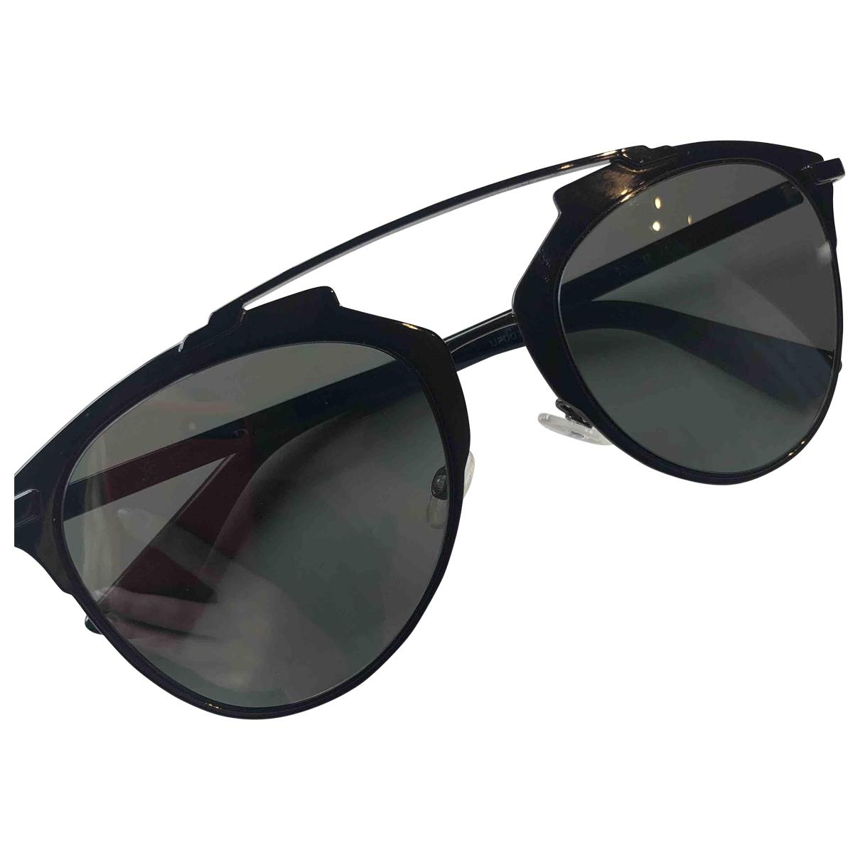 Dior Reflected Black Metal Sunglasses for Women \N