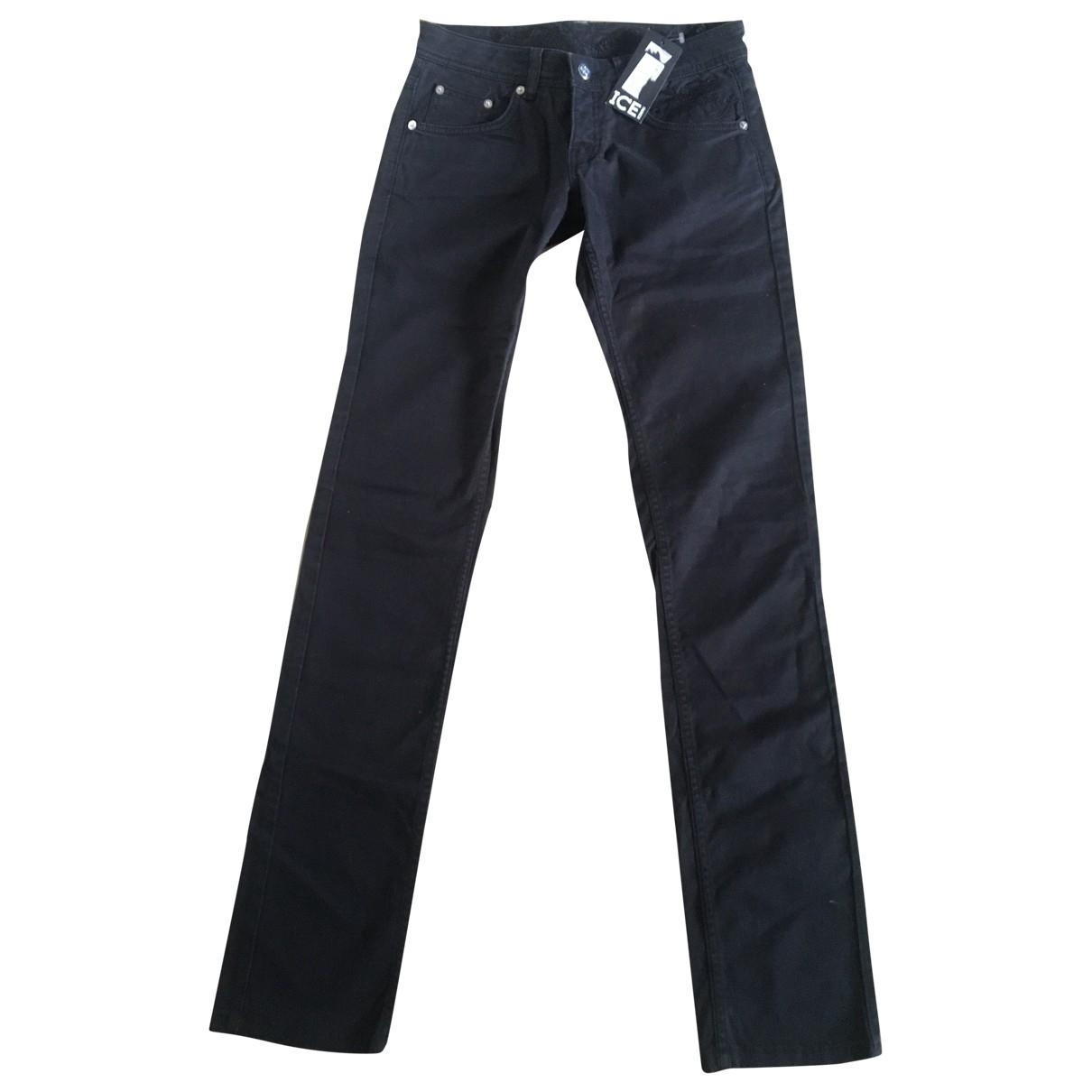 Iceberg \N Black Denim - Jeans Jeans for Women 26 US