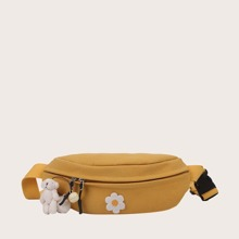 Girls Floral Graphic Fanny Pack