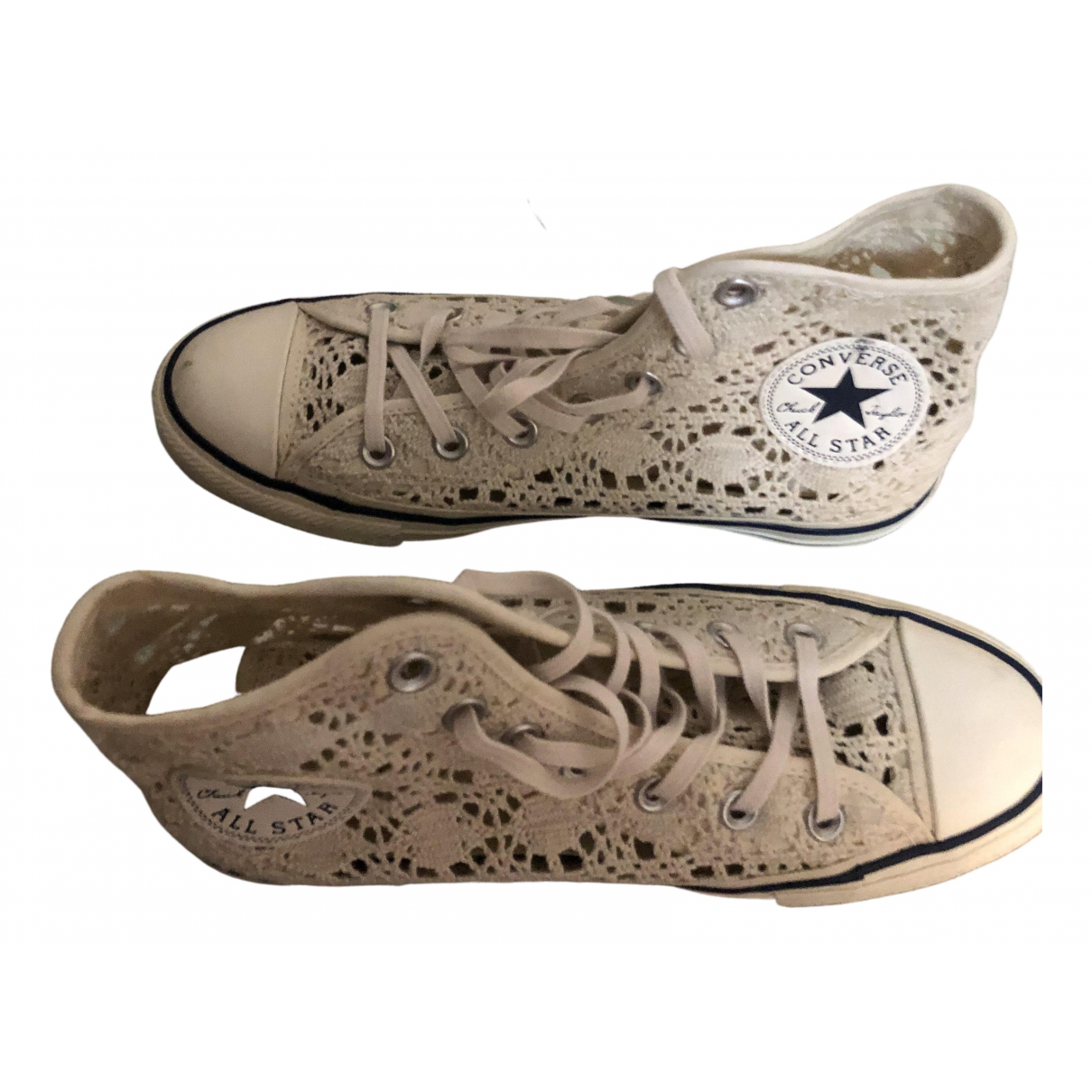 Converse \N White Cloth Trainers for Women 38 IT