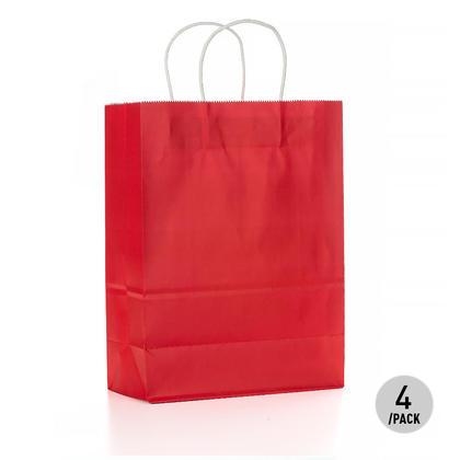 Gift Kraft Paper Bag - Large 4Pcs Red LIVINGbasics™