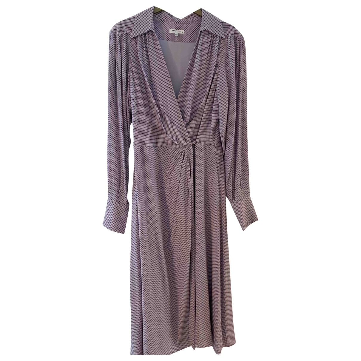Equipment \N Purple dress for Women 12 US
