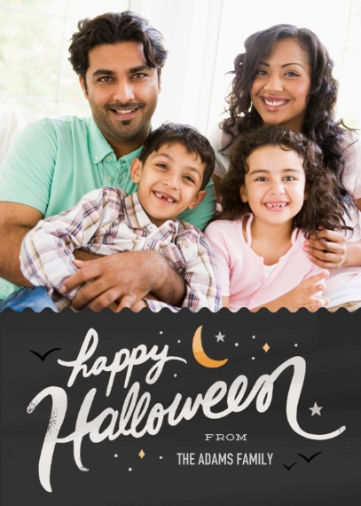 Halloween Photo Cards 5x7 Cards, Standard Cardstock 85lb, Card & Stationery -Halloween Hello