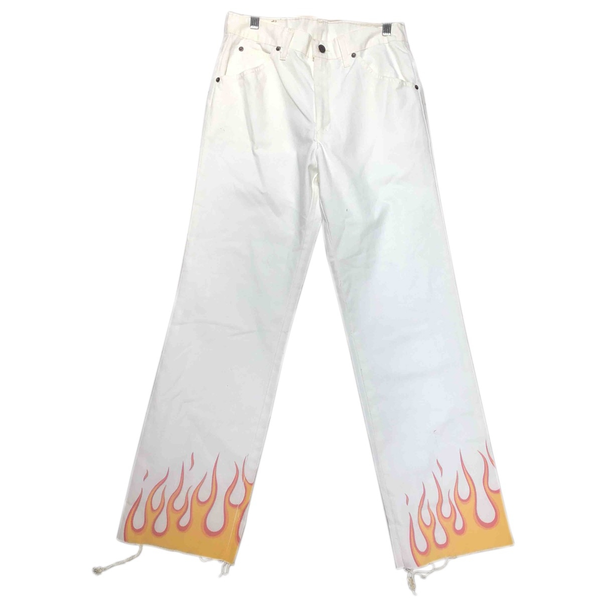 Levi's \N White Cotton Trousers for Women 40 IT