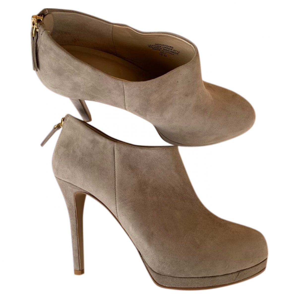 Nine West \N Beige Suede Ankle boots for Women 42 IT