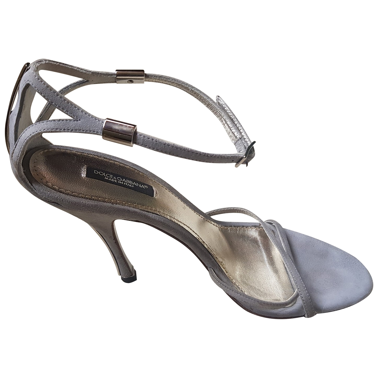 Dolce & Gabbana \N Silver Suede Sandals for Women 39 EU